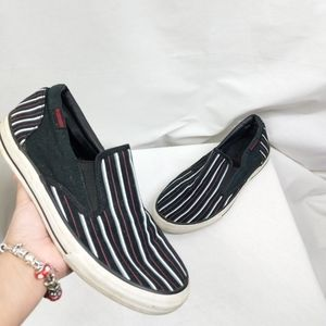 Converse Striped Low Top Slide On Shoes 10.5